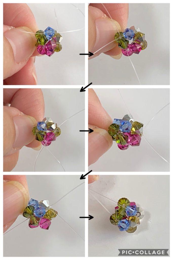 テグス編みの超基本!ビーズ12個で作るビーズボールの作り方